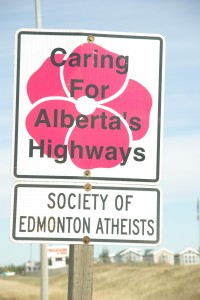 Caring for Alberta's Highways: Society of Edmonton Atheists