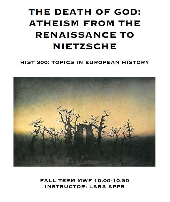 Atheism course UofA