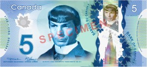 five bucks spock