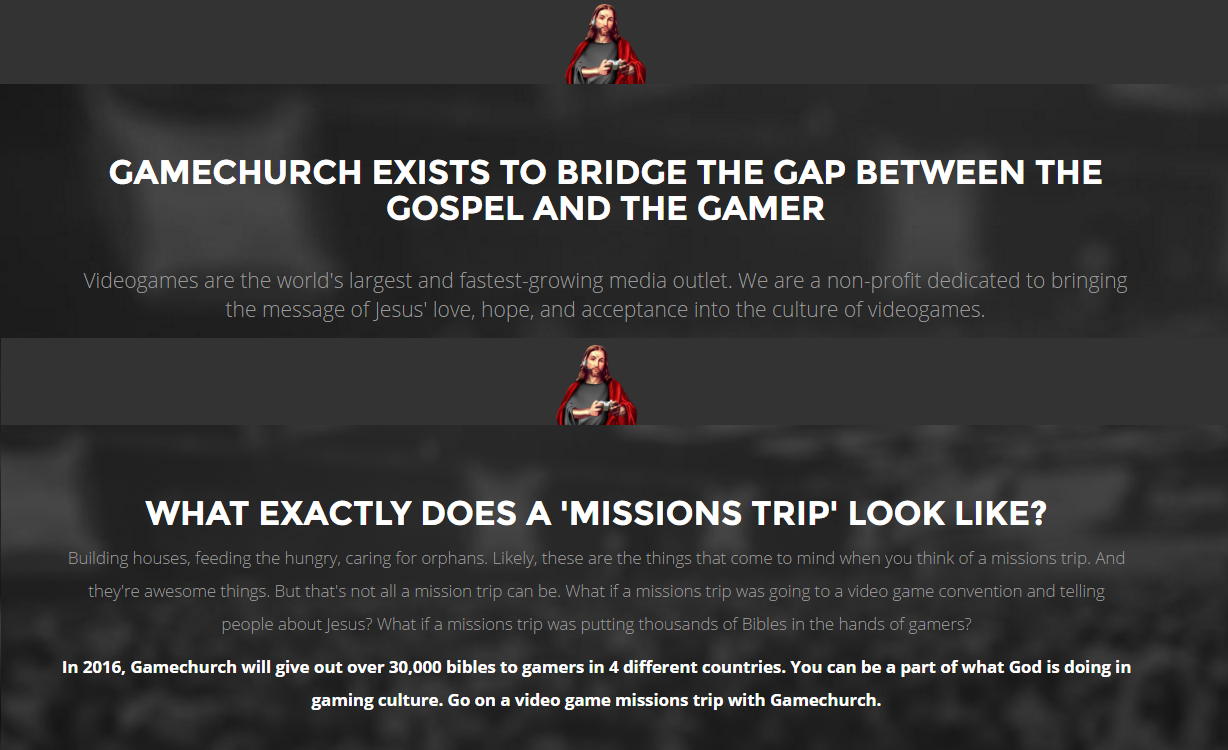 Gamechurch mission